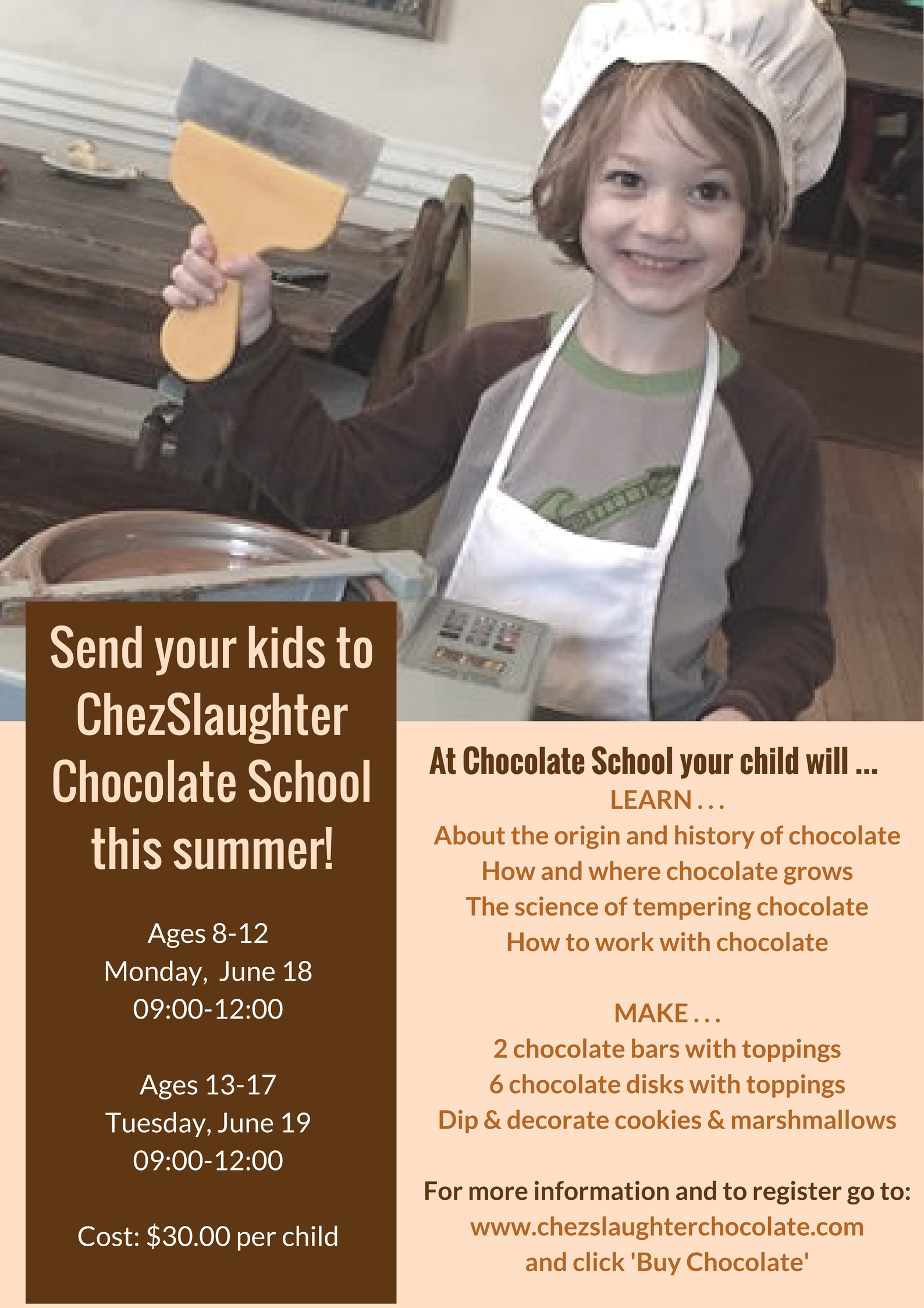 Send Your Kids To Chocolate School!
