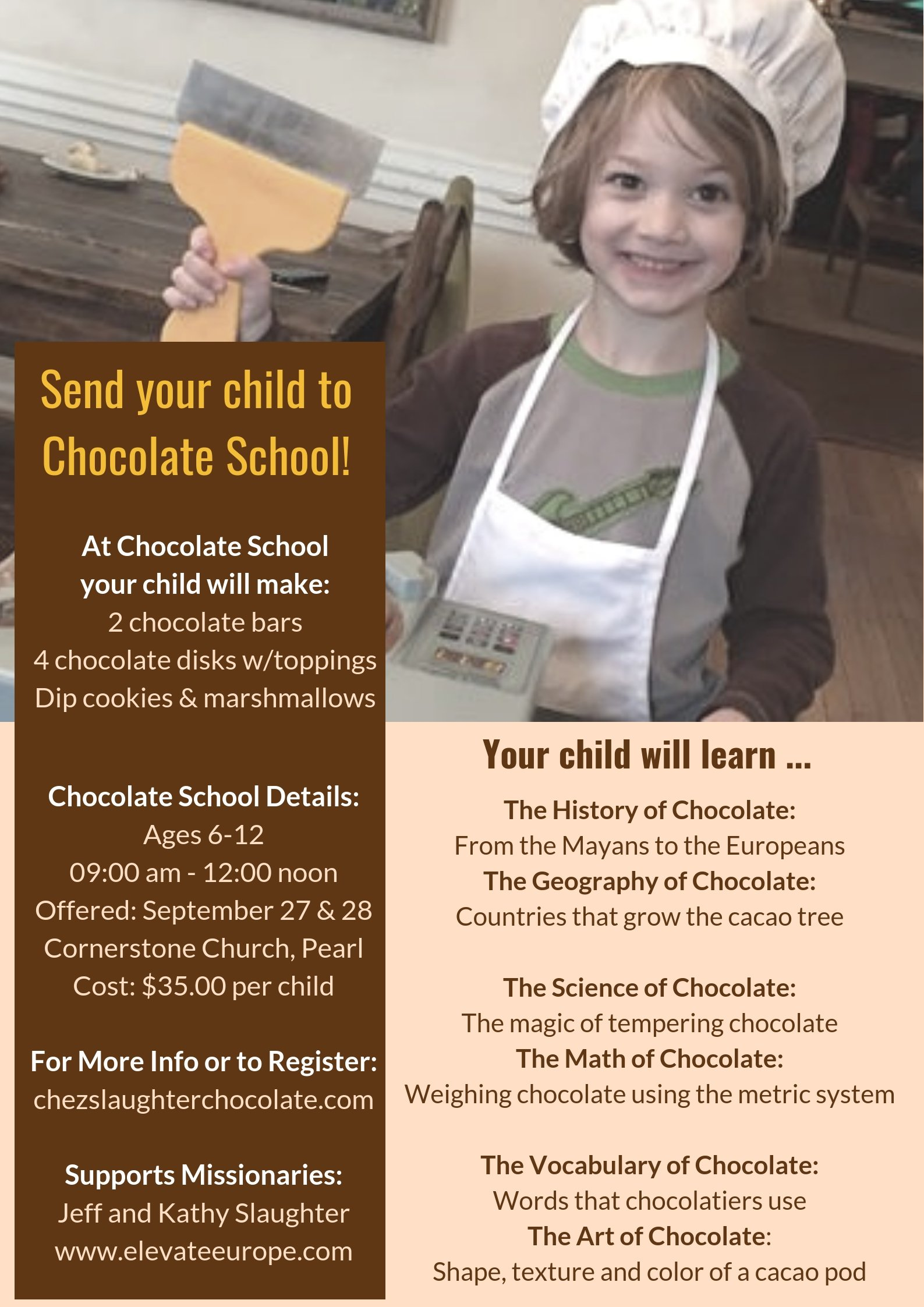 Chocolate School For Kids Is Going To Mississippi